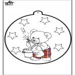 Coloriage thème - Dessin à piquer - Nouvel An