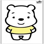 Bricolage cartes de piquer - Dessin à piquer - ours