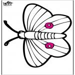 Coloriages d'animaux - Dessin à piquer - papillon