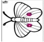 Dessin à piquer - papillon