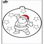 Coloriages Noël - Dessin à piquer - Père Noël