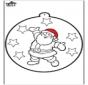 Dessin à piquer - Père Noël
