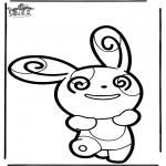Bricolage cartes de piquer - Dessin à piquer Pokémon 5