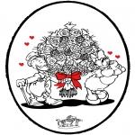 Coloriage thème - Dessin à piquer - Saint-Valentin 3