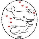 Coloriage thème - Dessin à piquer - Saint-Valentin 4