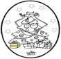 Dessin à piquer - Sapin de Noël 3