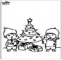 Dessin à piquer - Sapin de Noël 4