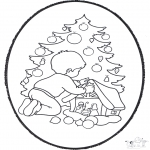 Bricolage cartes de piquer - Dessin à piquer - sapin de Noël