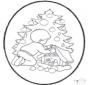 Dessin à piquer - sapin de Noël