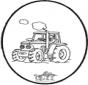 Dessin à piquer tracteur