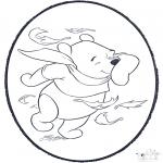 Bricolage cartes de piquer - Dessin à piquer - Winnie 2