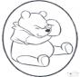 Dessin à piquer - Winnie l'Ourson 1