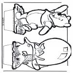 Bricolage cartes de piquer - Dessin à piquer - Winnie l'Ourson 5