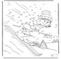 Dessin chiffres ski