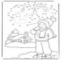Dessine en suivant les numéros - hiver