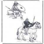 Coloriages faits divers - Deux soldats