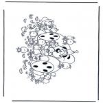 Personnages de bande dessinée - Diddl 32