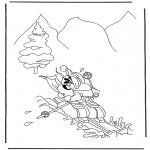 Personnages de bande dessinée - Diddl en sports d'hiver
