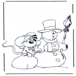 Coloriages hiver - Diddl hiver 1