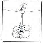 Coloriage thème - Diddl Saint-Valentin fleur