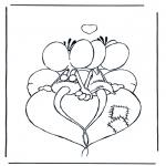 Coloriage thème - Diddle Saint-Valentin 13
