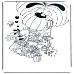 Coloriage thème - Diddle Saint-Valentin 6