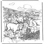 Coloriages Bible - Dimanche des Rameaux 1