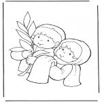 Coloriages Bible - Dimanche des Rameaux 2