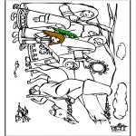 Coloriages Bible - Dimanche des Rameaux 7