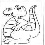 Coloriages pour enfants - Dino