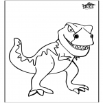 Coloriages d'animaux - Dinosaure 11