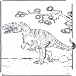 Coloriages d'animaux - Dinosaure 2