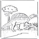 Coloriages d'animaux - Dinosaure 5