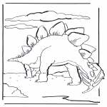 Coloriages d'animaux - Dinosaure 6