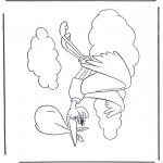 Coloriage thème - Dombo cigogne