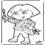 Coloriages pour enfants - Dora 10