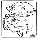 Coloriages pour enfants - Dora 11