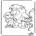 Coloriages pour enfants - Dora 2