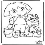 Coloriages pour enfants - Dora 4