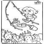 Coloriages pour enfants - Dora 6