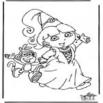 Coloriages pour enfants - Dora 8