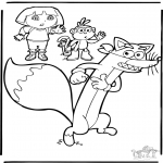 Coloriages pour enfants - Dora 9