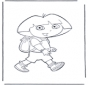 Dora avec sac à dos