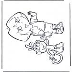 Coloriages pour enfants - Dora et Boots