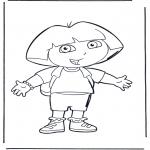 Coloriages pour enfants - Dora