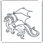 Coloriages d'animaux - Dragon 1