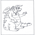Coloriages d'animaux - Dragon 3