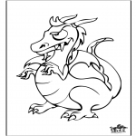 Coloriages d'animaux - Dragon 6