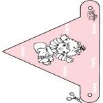 Coloriage thème - Drapeau - bébé 3