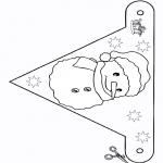 Bricolage coloriages - Drapeau - bonhomme de neige 2